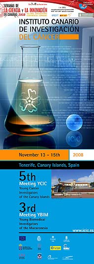 Cartel del Meeting Young Cancer Investigators of the Canary Islands